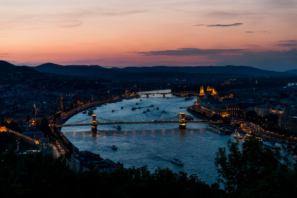 Hungaroring, Budapest, Hungary. Monday 5 June 2017. A view of the city at sunset. World Copyright: Zak Mauger/LAT Images ref: Digital Image _56I0577