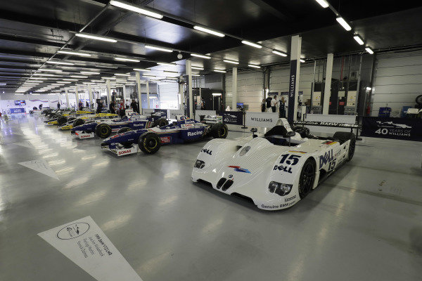 Williams 40 Event Silverstone, Northants, UK Friday 2 June 2017. A line-up of Williams-related cars, including Grand Prix machinery and 1999 BMW Le Mans winner. World Copyright: Zak Mauger/LAT Images ref: Digital Image _56I9402