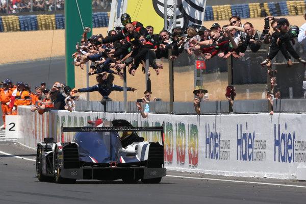 2017 Le Mans 24 Hours Circuit de la Sarthe, Le Mans, France. Sunday 18th  June 2017 #32 United Autosports Ligier JSP217-Gibson: William Owen, Hugo de Sadeleer, Filipe Albuquerque  World Copyright: JEP/LAT Images