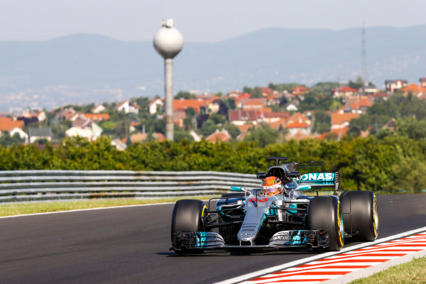 Hungaroring, Budapest, Hungary.  Tuesday 01 August 2017. George Russell, Mercedes F1 W08 EQ Power+. World Copyright: Joe Portlock/LAT Images  ref: Digital Image _R3I0063