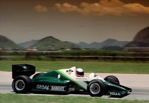 1985 Formula One Testing.Jacarepagua, Rio de Janeiro, Brazil.1985. Manfred Winklehock (Ram 03 Hart).  Ref: 85 F1  .World Copyright - LAT Photographic