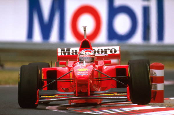 Hungaroring, Hungary.8-10 August 1997.Michael Schumacher (Ferrari F310B) 4th position.Ref-97 HUN 27.World  Copyright - LAT Photographic