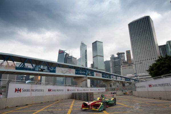 2016/2017 FIA Formula E Championship. Hong Kong ePrix, Hong Kong, China. Saturday 8 October 2016. Daniel Abt (GER), ABT Schaeffler Audi Sport, Spark-Abt Sportsline, ABT Schaeffler FE02.  Photo: Alastair Staley/LAT/Formula E ref: Digital Image 580A9227