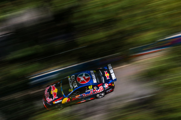 2016 Supercars Championship Round 14.  Sydney 500, Homebush Street Circuit, New South Wales, Australia. Friday 2nd December to Sunday 4th December 2016. Shane Van Gisbergen drives the #97 Red Bull Racing Australia Holden Commodore VF. World Copyright: Daniel Kalisz/LAT Photographic Ref: Digital Image 021216_VASCR14_DKIMG_1312.JPG