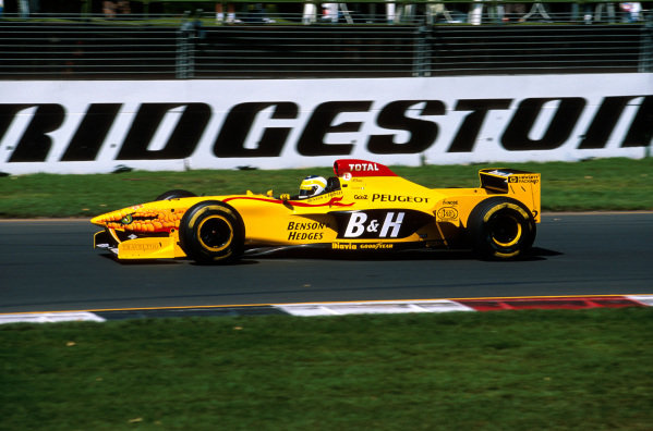Albert Park, Melbourne, Australia.7-9 March 1997.Giancarlo Fisichella (Jordan 197 Peugeot) failed to finish after spinning out on lap 14.Ref-97 AUS 25.World Copyright - LAT Photographic