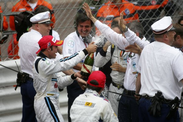 2007 GP2 Series. Round 3. Saturday Race.Monte-Carlo, Monaco. 26th May 2007.Pastor Maldonado (VEN, Trident Racing) celebrates victory. World Copyright: Andrew Ferraro/GP2 Series Media Service ref: Digital ImageZP9O1148