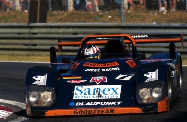 Alex Wurz (AUT) Joest Racing Porsche WSC95 won the race. Le Mans 24 Hours, Le Mans, France, 15-16 June 1996. BEST IMAGE
