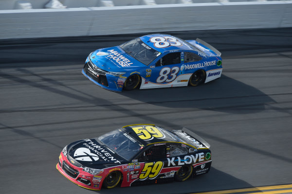 13-21 February, 2016, Daytona Beach, Florida, USA Michael McDowell, Leavine Family Racing (59), Michael Waltrip (83) ?2016, John Harrelson / LAT Photo USA