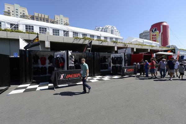 11-12  April, 2014, Long Beach, California, USA IMSA merchandise trailer @2014, Richard Dole LAT Photo USA
