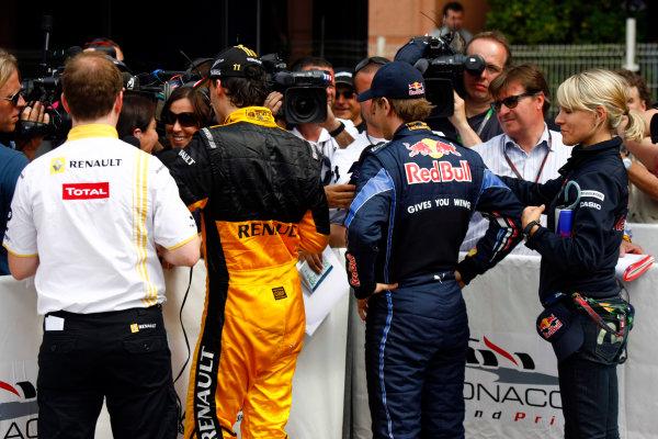 Monte Carlo, Monaco15th May 2010Robert Kubica, Renault R30, and Sebastian Vettel, Red Bull Racing RB6 Renault. Portrait. Media. World Copyright: Charles Coates/LAT Photographicref: Digital Image _26Y8912