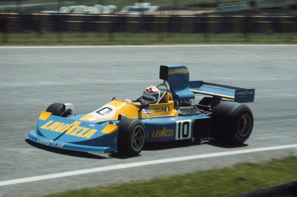 Interlagos, Sao Paulo, Brazil. 23-25 January 1976. Lella Lombardi, March 761 Ford. Ref: 76BRA03. World Copyright - LAT Photographic