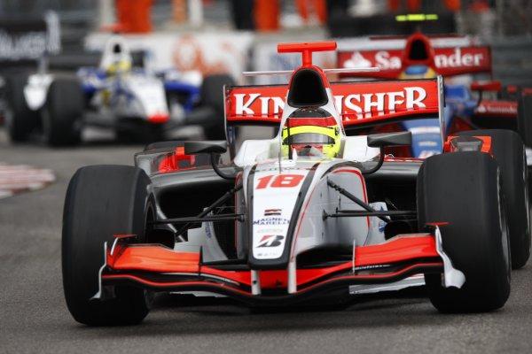2008 GP2 Series. Round 3. Saturday Race. Monte-Carlo, Monaco. 24th May 2008.Adrian Valles (ESP, Fisichella Motor Sport International). Action. World Copyright: Andrew Ferraro/GP2 Series Media Service.ref:__H0Y6277 jpg