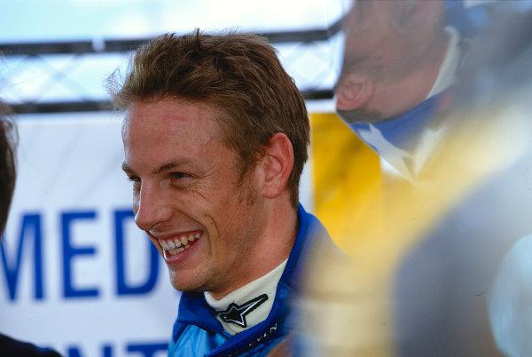 2002 San Marino Grand Prix.Imola, Italy.12-14 April 2002.Jenson Button (Renault) 5th position.Ref-02 SM 29.World Copyright - LAT Photographic