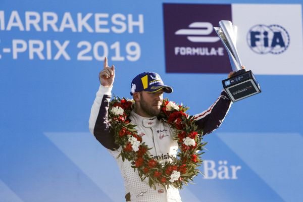 Sam Bird (GBR), Envision Virgin Racing, 3rd position, with his trophy