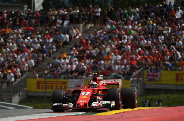 Kimi Raikkonen (FIN) Ferrari SF70-H at Formula One World Championship, Rd9, Austrian Grand Prix, Race, Spielberg, Austria, Sunday 9 July 2017.
