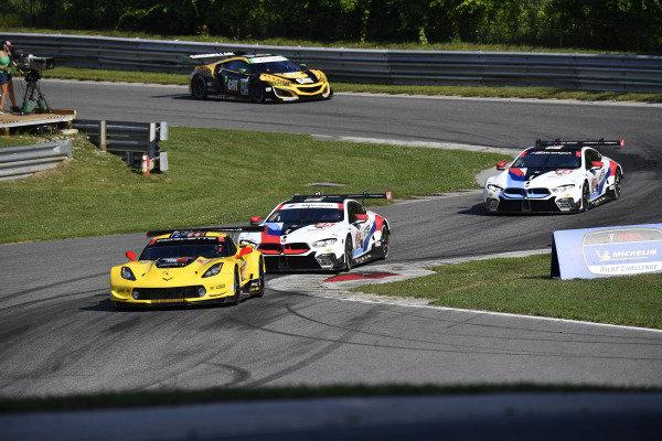 #4 Corvette Racing Corvette C7.R, GTLM: Oliver Gavin, Marcel Fassler, #24 BMW Team RLL BMW M8 GTE, GTLM: Jesse Krohn, John Edwards, #25 BMW Team RLL BMW M8 GTE, GTLM: Tom Blomqvist, Connor De Phillippi