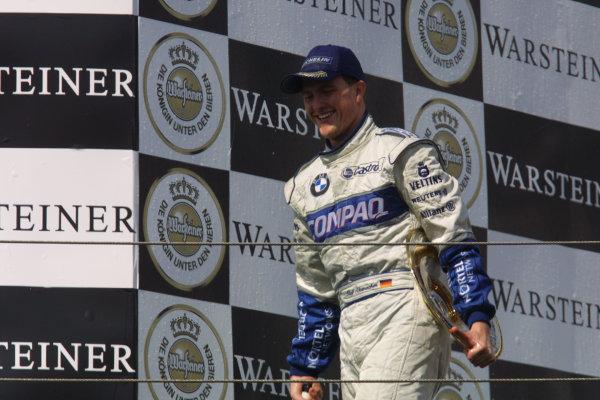 2001 San Marino Grand Prix.Imola, Italy. 13-15 April 2001.Ralf Schumacher (Williams BMW) 1st position on the podium.World Copyright - LAT Photographicref: 8 9 MB Digital