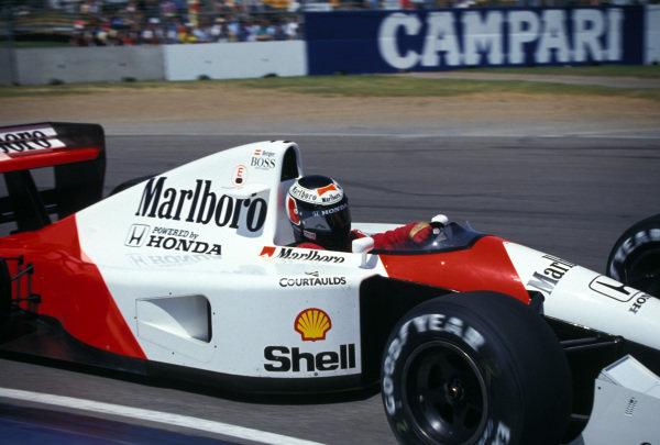 Gerhard Berger, McLaren MP4-6 Honda.