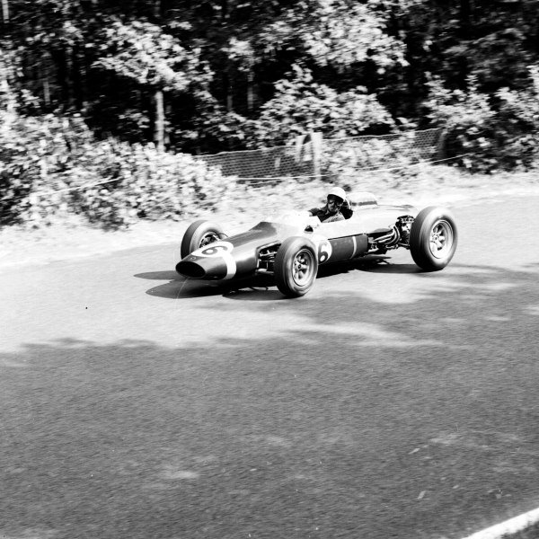 1963 German Grand Prix.Nurburgring, Germany.2-4 August 1963.Jo Bonnier (Cooper T66 Climax) 6th position.Ref-20661.World Copyright - LAT Photographic