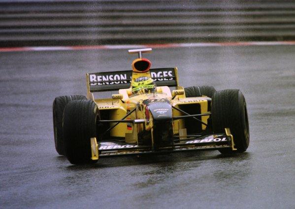 1998 Belgian Grand Prix.Spa-Francorchamps, Belgium. 28-30 August 1998.Ralf Schumacher (Jordan 198 Mugen Honda) 2nd position.World Copyright - Steve Etherington/LAT Photographic
