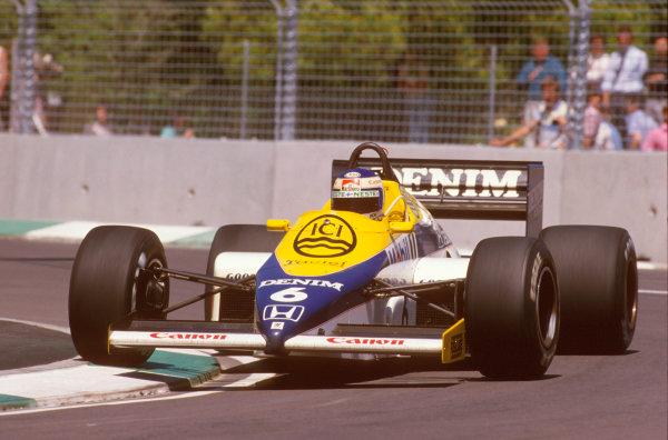 Adelaide, Australia.1-3 November 1985.Keke Rosberg (Williams FW10 Honda) 1st position.Ref-85 AUS 20.World Copyright - LAT Photographic