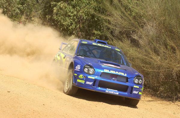 2001 World Rally ChampionshipTelstra Rally Australia, Perth, WA. 1-4 November 2001.Petter Solberg during shakedown.Photo: Ralph Hardwick/LAT
