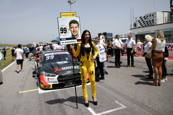Grid girl of Mike Rockenfeller, Audi Sport Team Phoenix.