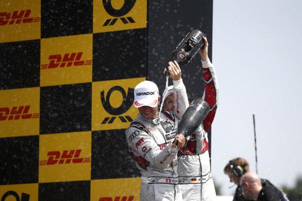 Podium: Nico Müller, Audi Sport Team Abt Sportsline and René Rast, Audi Sport Team Rosberg.