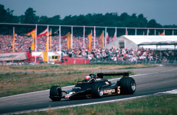 1978 German Grand Prix.Hockenheim, Germany.28-30 July 1978.Mario Andretti (Lotus 79 Ford) 1st position.Ref-78 GER 04.World Copyright - LAT Photographic
