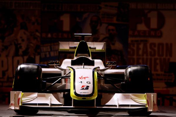 NEC, Birmingham. 15th January 2010.The Brawn GP BGP001 on the F1 Racing stand.World Copyright: Alastair Staley/LAT Photographicref: Digital Image _O9T0933