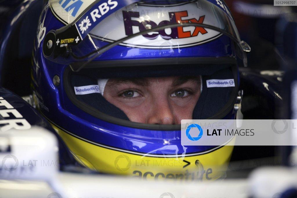 2006 Japanese Grand Prix - Friday Practice Suzuka, Japan. 5th - 8th October 2006 Nico Rosberg, Williams FW28-Cosworth, portrait, helmet. World Copyright: Charles Coates/LAT Photographic. ref: Digital Image ZK5Y5613