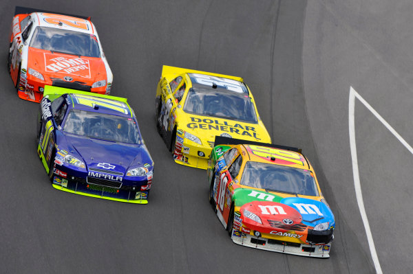 23-25 July, 2010, Indianapolis, Indiana USAKyle Busch and Landon Cassill©2010, LAT South, USALAT Photographic