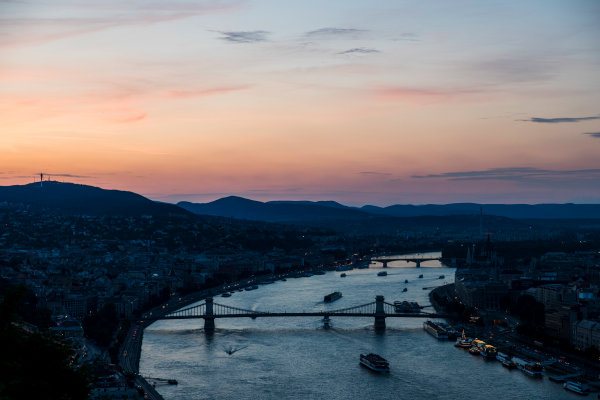 Hungaroring, Budapest, Hungary. Monday 5 June 2017. A view of the city at dusk. World Copyright: Zak Mauger/LAT Images ref: Digital Image _56I0560