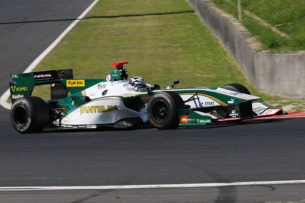 2017 Japanese Super Formula. Okayama, Japan. 27th - 28th May 2017. Rd 2. Race 2 3rd position Andre Lotterer ( #36 VANTELIN KOWA TOM?S SF14 ) action World Copyright: Yasushi Ishihara / LAT Images. Ref: 2017SF_Rd2_Race2_011