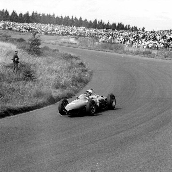 1961 German Grand Prix, Nurburgring, Germany.Phil Hill (Ferrari 156), 3rd position.Ref-9807.World - LAT Photographic