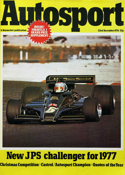Cover of Autosport magazine, 23rd December 1976