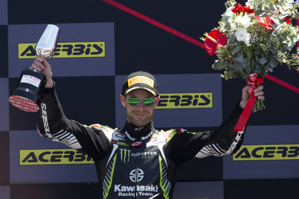 Second place Jonathan Rea, Kawasaki Racing