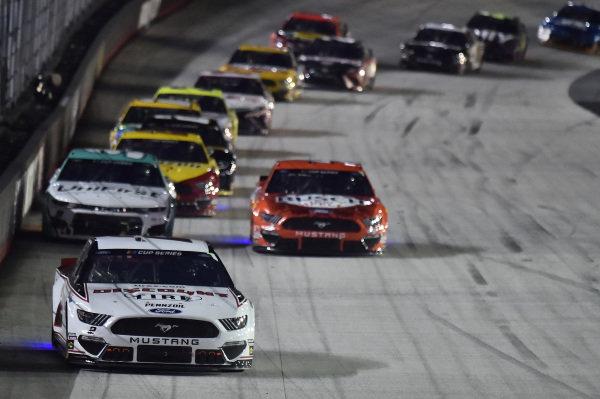 #2: Brad Keselowski, Team Penske, Ford Mustang Discount Tire, #4: Kevin Harvick, Stewart-Haas Racing, Ford Mustang Busch Light Apple, #9: Chase Elliott, Hendrick Motorsports, Chevrolet Camaro UniFirst