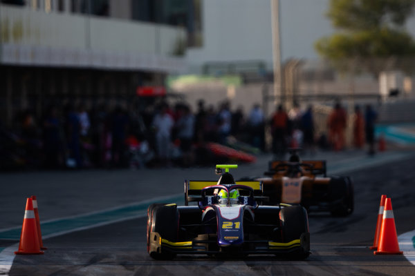 YAS MARINA CIRCUIT, UNITED ARAB EMIRATES - DECEMBER 05: Luca Ghiotto (ITA, Trident) during the Abu Dhabi at Yas Marina Circuit on December 05, 2019 in Yas Marina Circuit, United Arab Emirates. (Photo by Joe Portlock / LAT Images / FIA F2 Championship)
