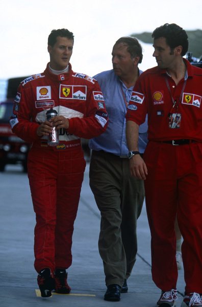 Sepang, Kuala Lumpur, Malaysia. 15-17 October 1999. Michael Schumacher (Ferrari F399). Portrait. Ref: 99MAL01. World Copyright - LAT Photographic