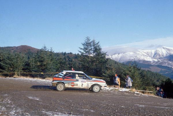 1988 World Rally Championship. Lombard RAC Rally. Great Britain. 20th - 24th November 1988. Rd 13. Markku Alen(Lancia Delta) 1st Position.World Copyright:LAT PhotographicRef:35mm Image
