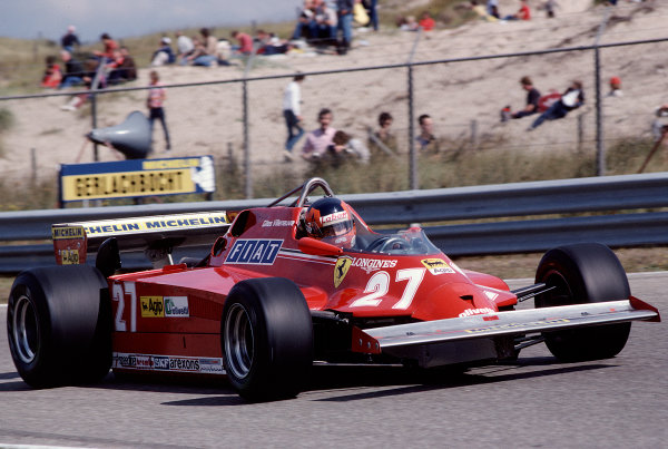 1981 Dutch Grand Prix.Zandvoort, Holland.28-30 August 1981.Gilles Villeneuve (Ferrari 126CK).Ref-81 HOL 44.World Copyright - LAT Photographic