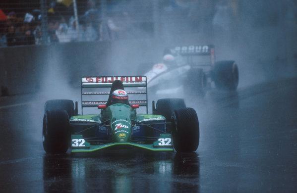 1991 Australian Grand Prix.Adelaide, Australia.1-3 November 1991.Alessandro Zanardi (Jordan 191 Ford) 9th position.Ref-91 AUS 12.World Copyright - LAT Photographic