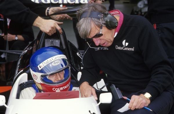 Philippe Streiff (FRA) and Ken Tyrrell, right Formula One World Championship 1987