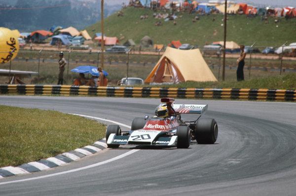 1973 Brazilian Grand Prix.  Interlagos, Sao Paulo, Brazil. 9-11th February 1973.  Nanni Galli, Iso Marlboro FX3B Ford, 9th position.  Ref: 73BRA17. World Copyright: LAT Photographic