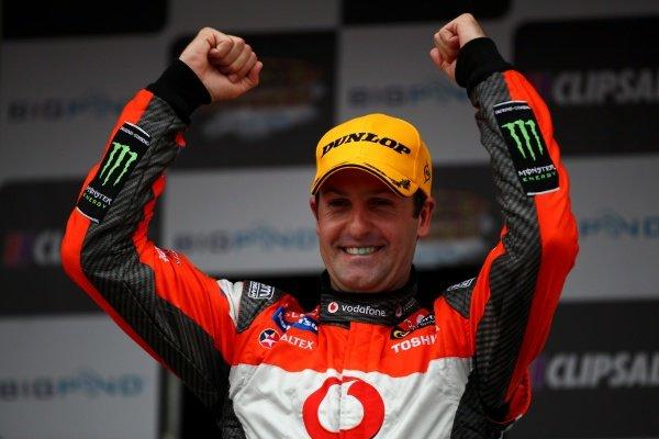 Garth Tander (AUS), Holden, won Saturday's race.Australian V8 Supercars, Rd2, Clipsal 500, Adelaide, Australia, 19-20 March 2011.