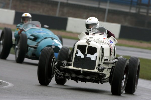 Rainer Ott, ERA R9B. Historic Car Racing, Donington, England, 20 April 2008