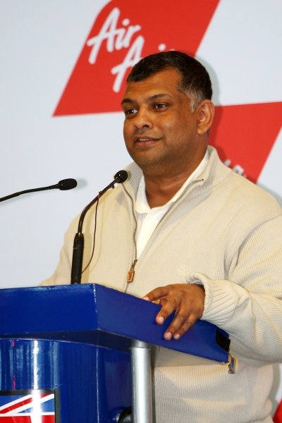 Tony Fernandes (MAL), CEO AirAsia Group. AirAsia Signs As Title Sponsor for 2010 MotoGP British Grand Prix, Silverstone, England, Wednesday 10 February 2010.