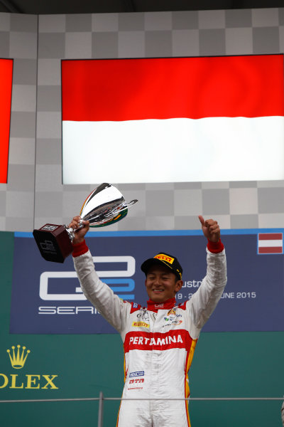 2015 GP2 Series Round 4. Red Bull Ring, Spielberg, Austria. Sunday 21 June 2015. Rio Haryanto (INA, Campos Racing)  Photo:  Sam Bloxham/GP2 Media Service ref: Digital Image _G7C6511