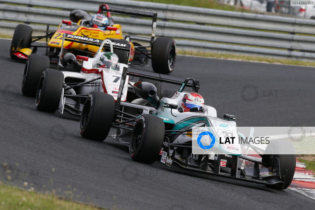 2015 Japanese Formula 3 Championship. Okayama, Japan. 23rd - 24th May 2015. Rd 6 & 7. Rd.6 Winner Nick Cassidy ( #37 PETRONAS TOM'S F314 ) action World Copyright: Masahide Kamio/LAT Photographic. Ref:  2015JF3_Rd6&7_002